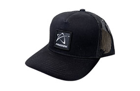 Prodigy Disc Mesh Trucker Cap Logo Patch (BLACK/BLACK)