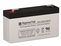 GS Portalac PE126R Replacement Emergency Light Battery | 6V/1.2AH | Sealed  Lead Acid Battery | Pro Battery Specialists