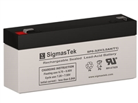 National Power GS008T7 Replacement Emergency Light Battery | 6V/3AH | Sealed Lead Acid Battery | Pro Battery Specialists