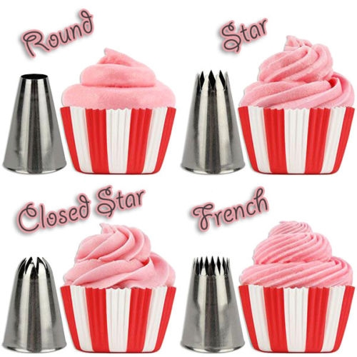 Pcs Icing Piping Tips Set Cake Frosting Decorating Nozzles