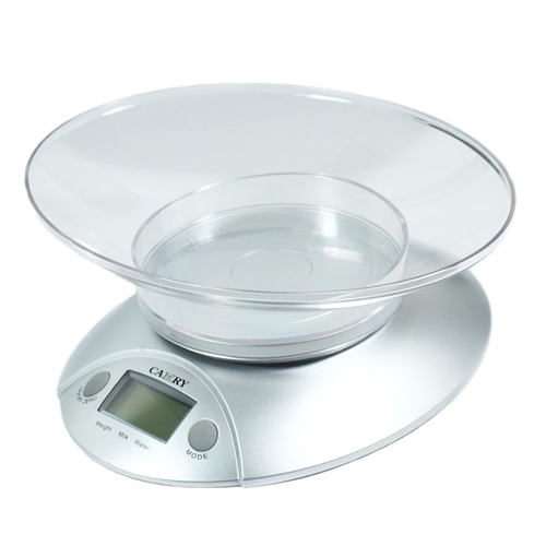 digital compact kitchen scale with bowl
