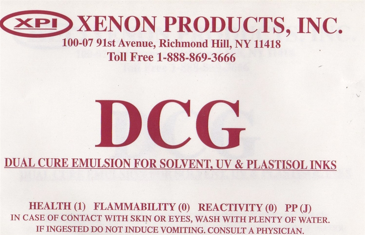 ULTRA/DCG Dual Cure Emulsion for Solvent Ink