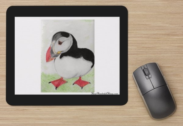 """Puffin"" Mouse Pad"