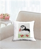 """Puffin"" Throw Pillow"