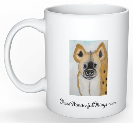 """Hyena"" Coffee Cup"