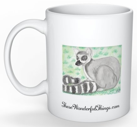 """Ring Tail Lemur"" Coffee Cup"