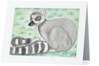 """Ring Tail Lemur"" Note Cards"