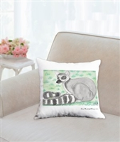 """Ring Tail Lemur"" Throw Pillow"