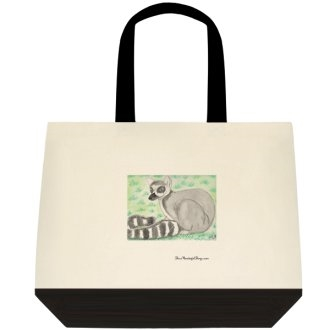 """Ring Tail Lemur"" Tote Bag"