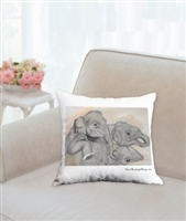 """Mud"" Throw Pillow"