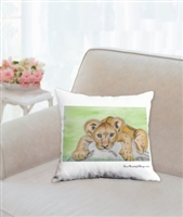 """Lion Cub"" Throw Pillow"