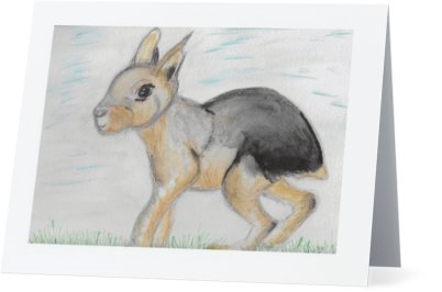 """Patagonian Cavy"" Note Cards"