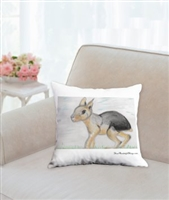 """Patagonian Cavy"" Throw Pillow"