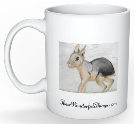 """Patagonian Cavy"" Coffee Cup"