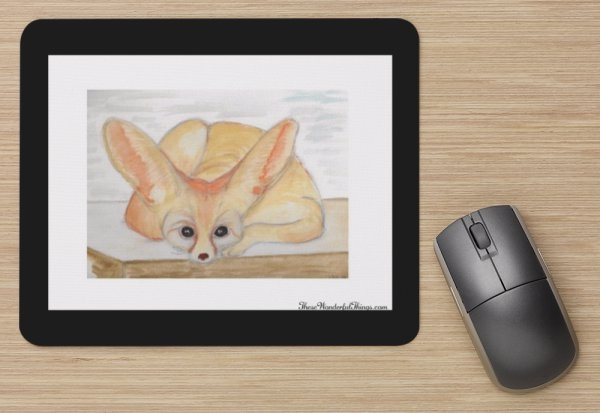 """Fennec Fox"" Mouse Pad"