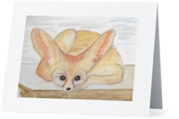 """Fennec Fox"" Note Cards"