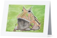 """Argentine Horned Frog"" Note Cards"
