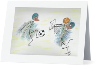 """Basketball"" Note Cards"