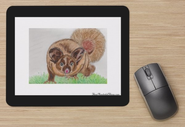 """Yellow Bellied Glider"" Mouse Pad"