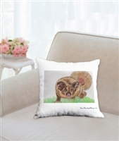 """Yellow Bellied Glider"" Throw Pillow"