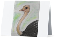 """ Ostrich"" Note Cards"