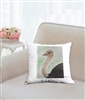 """Ostrich"" Throw Pillow"