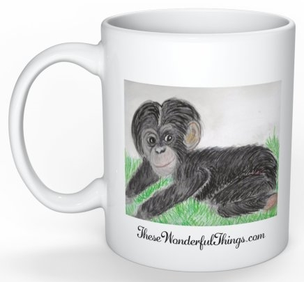 """Baby Chimp"" Coffee Cup"