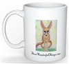 """Fennec Fox Sitting"" Coffee Cup"