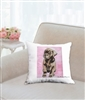 """Chocolate Lab Pup"" Throw Pillow"
