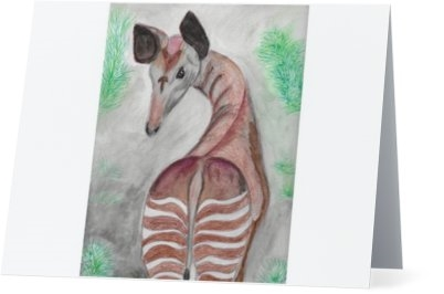 """ Okapi"" Note Cards"