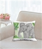 """Elephant Ears"" Throw Pillow"