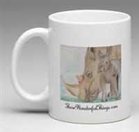 """Rhino Mom"" Coffee Cup"