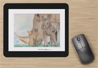 """Rhino Mom"" Mouse Pad"