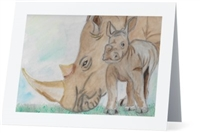 """Rhino Mom"" Note Cards"