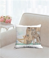 """Rhino Mom"" Throw Pillow"