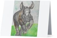 """Rhino"" Note Cards"