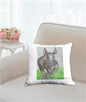 """Rhino"" Throw Pillow"