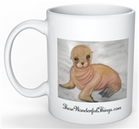 """Sea Lion"" Coffee Cup"