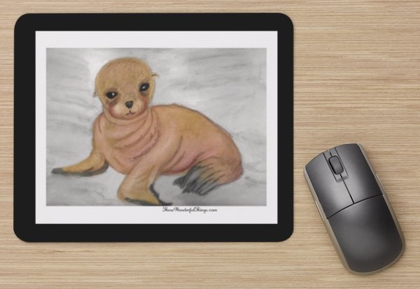 """Sea Lion"" Mouse Pad"