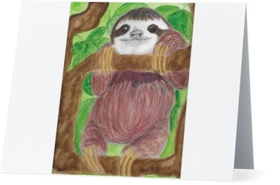 """Sloth"" Note Cards"