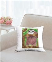 """Sloth"" Throw Pillow"