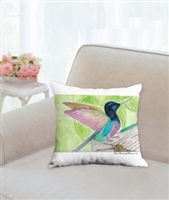 """Hummingbird"" Throw Pillow"