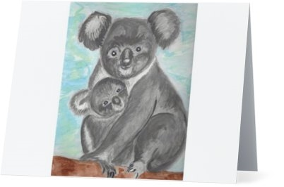 """Koala Mom"" Note Cards"
