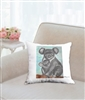 """Koala Mom"" Throw Pillow"