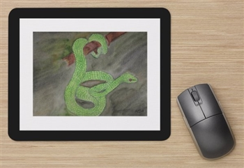"""Green Snake"" Mouse Pad"
