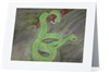 """Green Snake"" Note Cards"