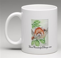 """Red Panda"" Coffee Cup"