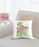 """Red Panda"" Throw Pillow"