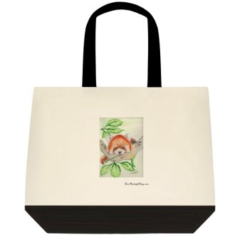"""Red Panda"" Tote Bag"