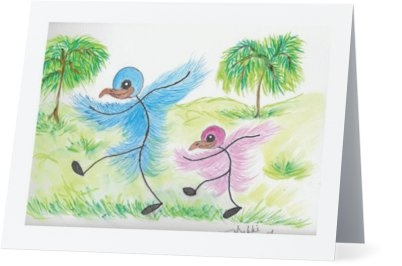 """ Walking Together"" Note Cards"
